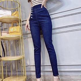 Quần jean nữ lưng cao Julido, chất jean cotton co dãn tôn dáng phụ nữ eo thon mẫu KV01A