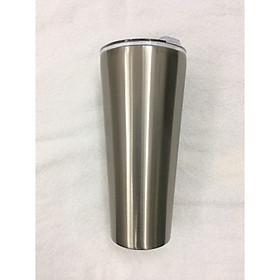 Ly giữ nhiệt 24 giờ không đọng nước 1200ml  inox 304 dày chắc, sáng bóng_tặng 2 ống hút inox + 1 túi xách + 1 cọ rửa ống hút _ inox  trơn