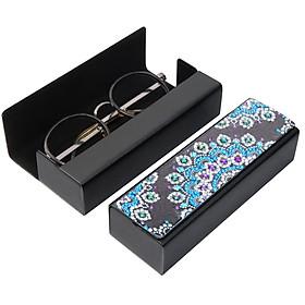 Sunglass Case with Diamond Painting Leather Sunglass Storage Box Hard Shell DIY Special Shaped Rhinestone Glasses Case