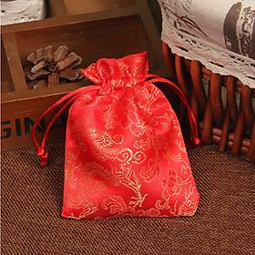 Combo 5 Túi gấm long phụng màu đỏ  phong thủy TÀI LỘC VÀ MAY MẮN - PCCB MINGT