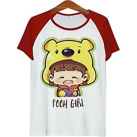 Áo Thun Nam Cô Bé Gấu Pooh - ATCP163