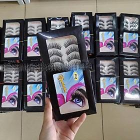 Hộp 10 cặp lông mi giả tự nhiên thanh mảnh- số 15