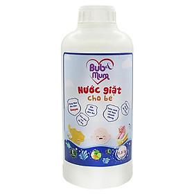 Nước giặt cho bé 1,5 lít BuB&MuM công dụng làm mềm vải, diệt khuẩn bám vào vải thành phần thảo dược an toàn cho bé kể cả da nhạy cảm hương thơm dễ chịu hàng công ty chính hãng, xuất xứ Việt Nam