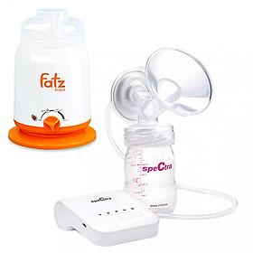 Combo Máy Hút Sữa điện đơn Spectra Q + Máy Hâm Sữa 4 chức năng FatzBaby FB3002SL