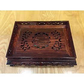Khay trà gỗ cẩm lai nhỏ