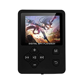 Fun MP4 Music Player 1.8inch TFT Screen Ultra-thin Voice Recorder Support Up to 32GB TF Memory Card