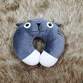 Gối chữ u quàng cổ nhồi bông hình Totoro chân trắng