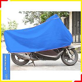 Bạt trùm xe máy chống nắng mưa - HT SYS -Chất liệu Polyeste cao cấp- Màu Xanh