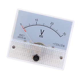 85C1 DC Rectangle Ammeter Amp Current Tester Analog Panel Voltmeter