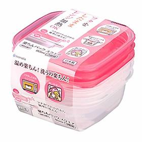 Bộ 2 set 3 hộp đựng thực phẩm cho bé - Japan