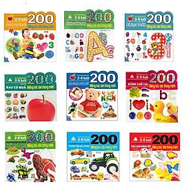 Bộ bóc dán hấp dẫn dành cho bé từ 2-6 tuổi:  Combo 9 Tập 200 Miếng Bóc Dán