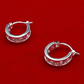 Bông tai bạc - Khuyên tai bạc - Hoa Tai Nữ Bạc Hiểu Minh HT142