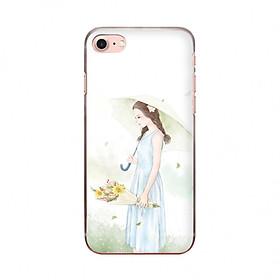 Ốp lưng cho iPhone 7  CÔ GÁI DỊU DÀNG in theo chất liệu