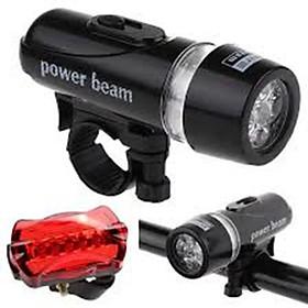 Bộ Đèn Pin Gắn Xe Đạp Và Đèn Chiếu Hậu 5 Led 206211 + Tặng  Đèn Led Gắn Van Bánh Xe 206131