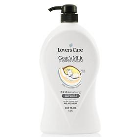 Sữa Tắm Tinh Chất Sữa Dê Cám Gạo Và Bơ Hạt Mỡ Lover's Care 1200ml
