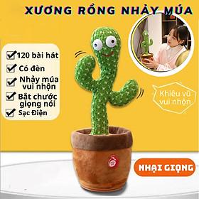 Cây Xương Rồng Sạc Điện Nhại Tiếng  Có Đèn Bắt Chước Giọng Nói  120 Bài Hát Có Bài Tiếng Việt