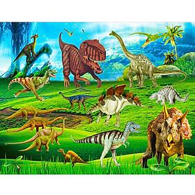 Ghép hình gỗ 200 mảnh - Công viên khủng long