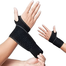 Wrist Support Brace Wrist Stabilizer Adjustable Wrist Bandages Protector Left and Right Hand Wrist Wraps for Fitness