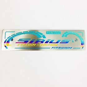 Bảng tên titanium xe Sirius