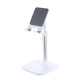 Tablet/Phone Holder Stand for Desk, Adjustable Desktop Stand Compatible with Smartphones and Tablets White
