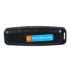 Mini Portable USB Voice Recorder Rechargeable U-Disk Recorder One-Button Recording Storage Support 1-32G TF Card for
