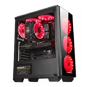 Desktop Computer PC Gaming 4TechGM04 2019, cây máy tính văn phòng cấu hình cao chơi Game, thiết kế đồ họa như máy trạm chuyên nghiệp dùng cho cá nhân, doanh nghiệp, Club Games dùng CPU Core i7 cho Render Video nhanh, không bị chậm, giật, lag. - Hàng Chính Hãng.