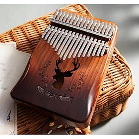 Đàn Kalimba Cega 17 phím gỗ nguyên tấm Mahogany