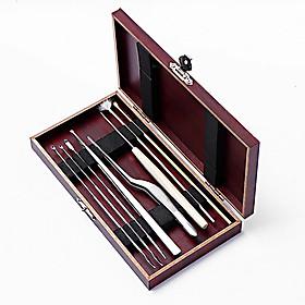 Bộ dụng cụ lấy ráy tai 8 món hộp gỗ
