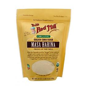Bột ngô (bột bắp) làm tortilla hữu cơ Bob's Red Mill Golden Masa Harina Corn Flour 680g