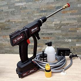 máy phun xịt rửa Covit bằng pin samaki đa năng