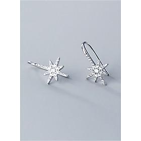 Bông Tai Nữ | Bông Tai Nữ Bạc S925 Ngôi Sao Tám Cánh B2490 - Bảo Ngọc Jewelry