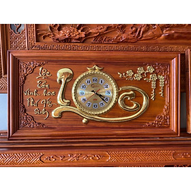 Tranh gỗ đồng hồ chữ lộc 81x41x3