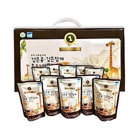 Combo 10 bịch Sữa Óc Chó, Hạnh Nhân, Đậu Đen, Macca tăng chiều cao và cân nặng hiệu Golden Health Hàn Quốc