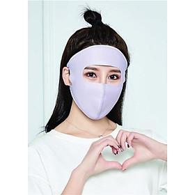 Khẩu trang ninja chống tia cực tím, chất vải lụa băng (ICE FABRIC) mát lạnh, nhiều màu sắc lựa chọn