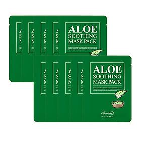 Combo 10 Mặt nạ dưỡng ẩm cho da nhạy cảm, da mụn Benton Aloe Soothing Mask Pack 23g x10