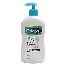 Cetaphil tắm gội hữu cơ Organic - Cetaphil Baby Wash & Shampoo with Organic Calendula