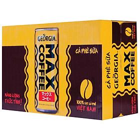 Thùng 24 Lon Cà Phê Georgia Coffee Max Coffee (235ml x 24 Lon)