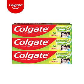 Bộ 3 Kem đánh răng Colgate Vitamin C thơm mát 220g/ tuýp