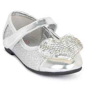 Giày búp bê bé gái Crown Space crown UK Princess Ballerina CRUK3101 - Màu Bạc