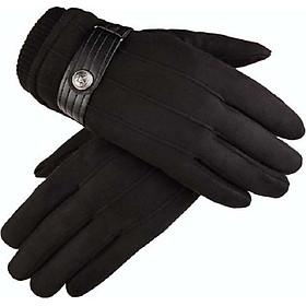 Găng tay phượt chống nắng nam da lộn cảm ứng điện thoại  mẫu MỚI DLO01