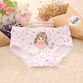 Quần lót cotton họa tiết hoạt hình đáng yêu cho bé gái