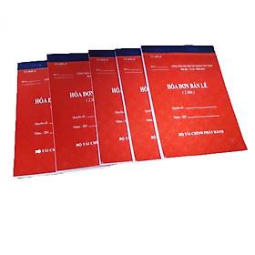 Hình ảnh Combo 5 quyển hóa đơn bán lẻ 2 liên