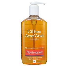 Sữa rửa mặt hỗ trợ ngừa mụn Neutrogena Oil-Free Acne Wash 269ml