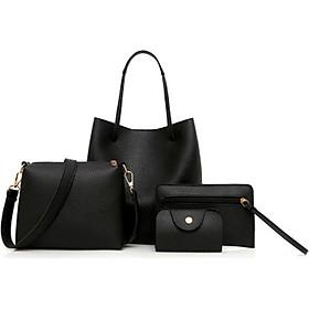 Shoulder Bag 4pcs Bag Elegant Clemence 5 Color Travel Wallet Schoolbag