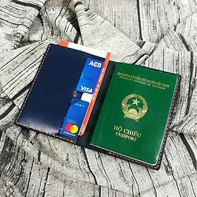 Ví đựng passport, ví passport, bao da passport, bao da đựng passport, bao da hộ chiếu,  da bò, bao da đựng hộ chiếu da thật 100% handmade - PP9