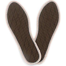 Lót giày quế, VẢI LƯỚI 1 LỚP, hút ẩm, khử mùi hôi chân, giúp êm chân, ấm chân, phòng cảm cúm, cải thiện sức khỏe - CI-05