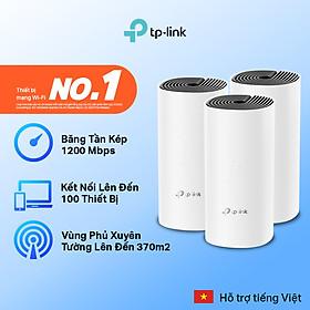 Bộ Phát Wifi Mesh TP-Link Deco E4 (3-pack) Băng Tần Kép MU-MIMO AC1200 - Hàng Chính Hãng