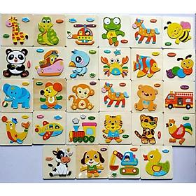 Combo 10 tranh ghép hình nổi cho bé MK0026
