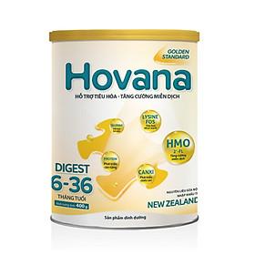 Sữa Bột Hovana Digest 400gr hỗ trợ tiêu hóa, tăng cường miễn dịch, tăng cân tự nhiên