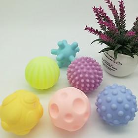 6Pcs/Set Baby Educational Grasping Ball Infants Hand Catch Massage Sensory Ball Toys